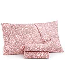 Printed Microfiber 4-Pc. Queen Sheet Set, Created for Macy's