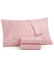 Martha Stewart Essentials 3-Pc. Printed Microfiber Twin XL Sheet Set, Created for Macy's