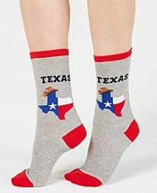 Women's Texas Fashion Crew Socks