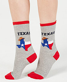 Hot Sox Women's Texas Crew Socks