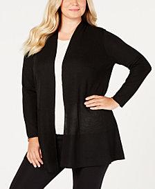 Anne Klein Plus Size Open-Front Cardigan