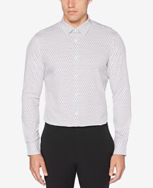 Perry Ellis Men's Slim-Fit Zig-Zag Print S