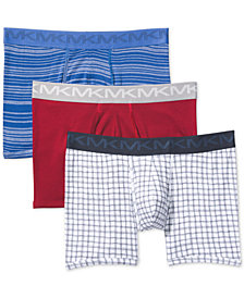 Michael Kors Men's 3-Pk. Performance Cotton Boxer Briefs
