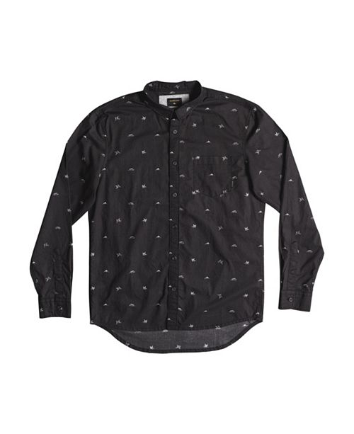 Quiksilver Men's Fuji Mini Motif Long Sleeve Woven