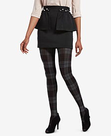 HUE® Control-Top Plaid Tights