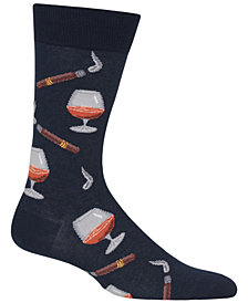 Hot Sox Men's Cognac & Cigars Crew Socks