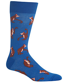 Hot Sox Men's Orangutans Crew Socks