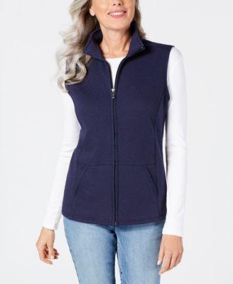 Karen Scott Petite Quilted Vest