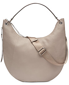 DKNY Tompson Pebble Leather Hobo, Created for Macy's