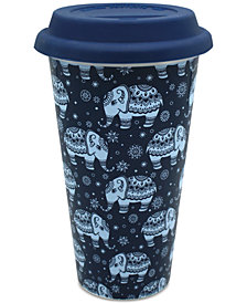 CLOSEOUT! TMD Holdings Elephants All Over Travel Mug