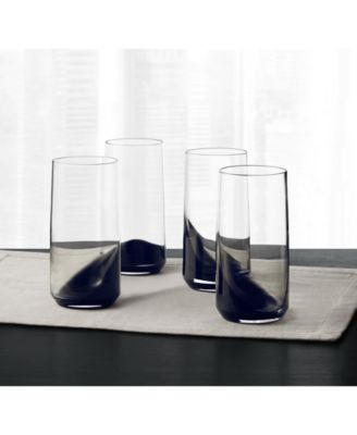 Set of 4 Highball Glasses with Black Ombre, Created for Macy's