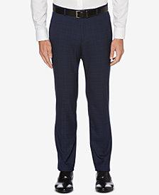 Perry Ellis Men's Performance Stretch Silm-Fit Plaid Dress Pants