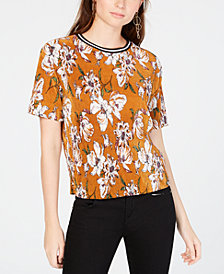 Gypsies & Moondust Juniors' Floral-Printed Bodre Top