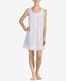 Eileen West Cotton Printed Short Nightgown