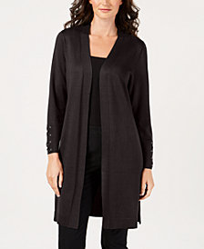 JM Collection Petite Open-Front Duster Cardigan, Created for Macy's