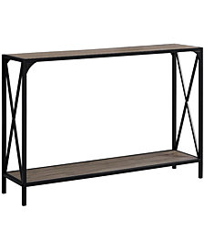 "Monarch Specialties 48""L Hall Console Accent Table in Dark Taupe/Black"