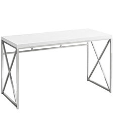 "Computer Desk 48"" Chrome Metal"