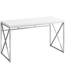 "Monarch Specialties 48""L Computer Desk in Glossy White"