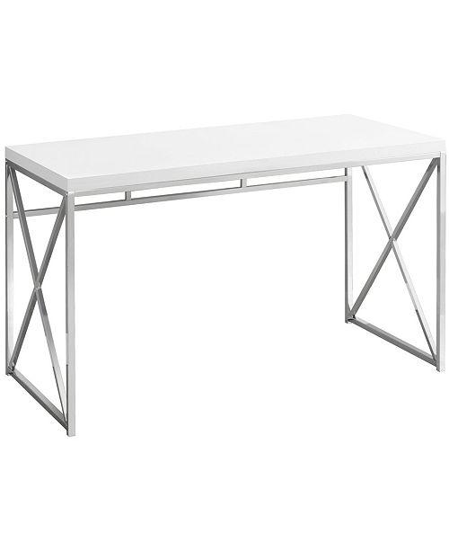 """Monarch Specialties 48""""L Computer Desk in Glossy White"""