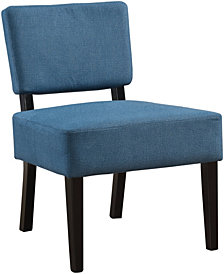 Monarch Specialties Accent Chair - Blue Fabric