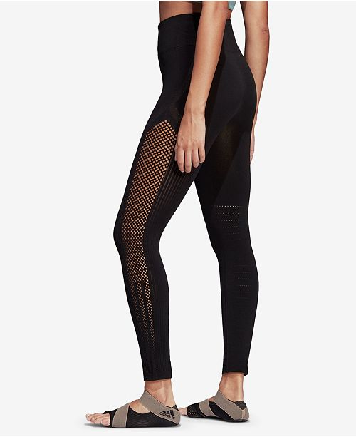 distinctive design popular style superior performance adidas High-Rise Seamless Warp-knit Ankle Leggings ...