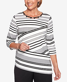 Alfred Dunner Petite Finishing Touches Embellished Top
