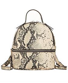 Steve Madden Jacki Faux Snakeskin Convertible Backpack
