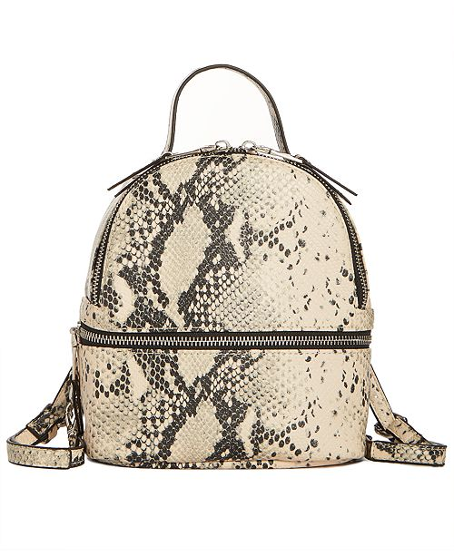 6d49f61cc1b7d Steve Madden Jacki Faux Snakeskin Convertible Backpack   Reviews