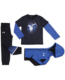Under Armour Little Boys Zip-Up Hoodie, Layered-Look T-Shirt & Jogger Pants