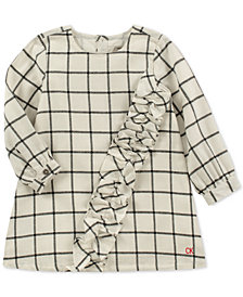 Calvin Klein Baby Girls Flannel Plaid Cotton Dress