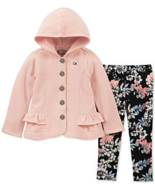 Calvin Klein Baby Girls 2-Pc. Hooded Jacket & Leggings Set