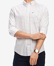 Tommy Hilfiger Men's Classic Fit Multicolor Check Print Shirt, Created for Macy's