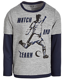 Ideology Toddler Boys Learn-Print Layered-Look T-Shirt, Created for Macy's