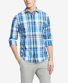 Tommy Hilfiger Men's Classic Fit Sonny Plaid Shirt, Created for Macy's