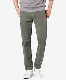 Dockers Men's Alpha Khaki Rip & Repair Slim Fit Khaki Pants D1