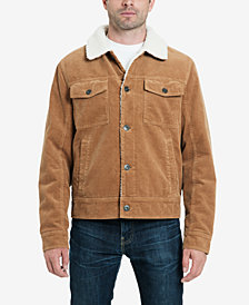 Lucky Brand Men's Kayne Corduroy Sherpa Trucker Jacket with Fleece Lining