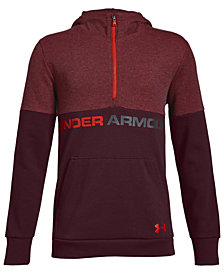 Under Armour Big Boys Double-Knit 1/2-Zip Hoodie