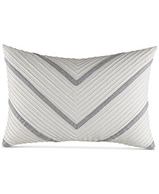"Nautica Clearview Ivory Chevron 14"" x 20"" Breakfast Pillow"