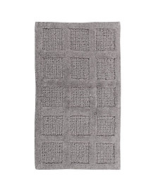 Square Honeycomb 21x34 Cotton Bath Rug