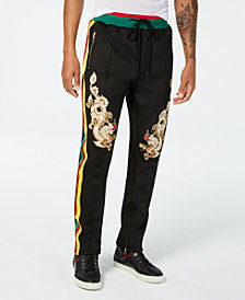 Reason Men's Dragons Classic-Fit Embroidered Track Pants