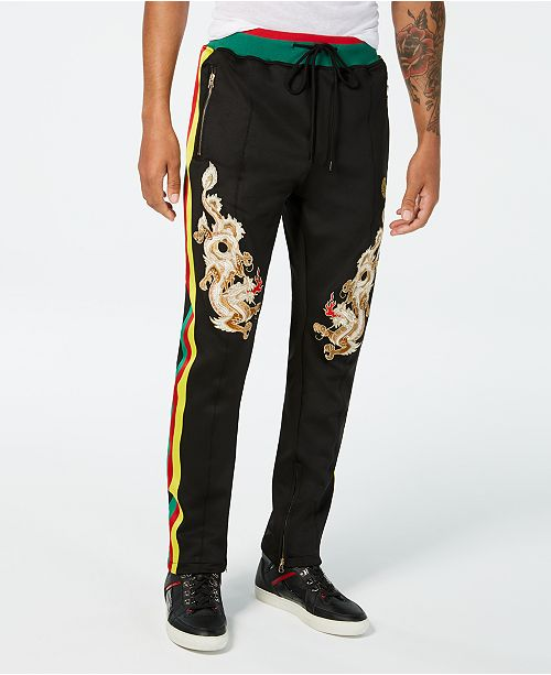 fdd2670b Reason Men's Dragons Classic-Fit Embroidered Track Pants & Reviews ...