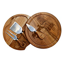 Picnic Time Disney Pixar's Ratatouille  Acacia Brie Cheese Cutting Board & Tools Set