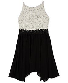 Big Girls Plus-Size Lace Fit & Flare Dress