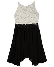 BCX Big Girls Plus Lace Fit & Flare Dress