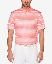 PGA TOUR Men's Heathered Stripe Polo