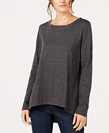 Eileen Fisher Organic Cotton High-Low Top