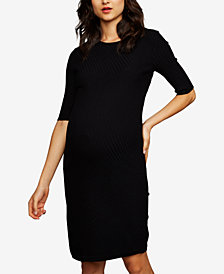 A Pea In The Pod Maternity Ribbed Sheath Dress