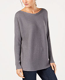 Eileen Fisher Tencel® Boat-Neck Sweater, Regular & Petite