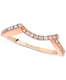 Diamond Curve Band (1/6 ct. t.w.) in 14k Rose Gold