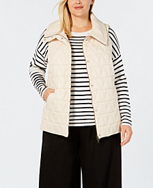 Eileen Fisher Plus Size Recycled Nylon Quilted Vest